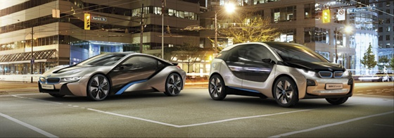 BMW's i-Series sub-brand ushers in a new era of urban mobility. The all-electric i3 (right) launches in 2013, while the i8 plug-in hybrid arrives in 2014.