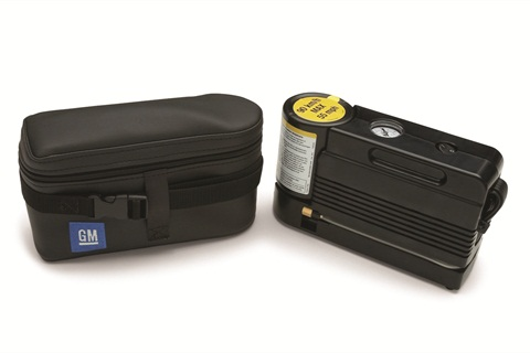 The tire sealant and inflator kit for the 2012-MY Chevrolet Silverado 1500. Photo Courtesy of PacePerformance.com
