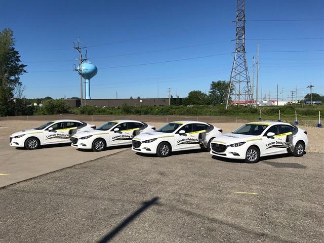 Century Driving Group s fleet includes Mazda3 sedans. Photo courtesy