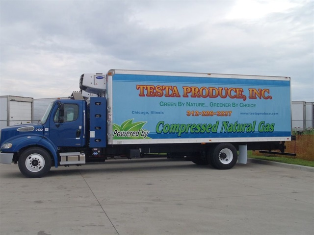 Testa Produce has 24 straight trucks in its delivery fleet running on