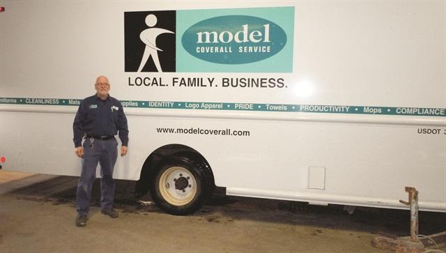 Joe Boyd is the fleet technician for Model Coverall Service.