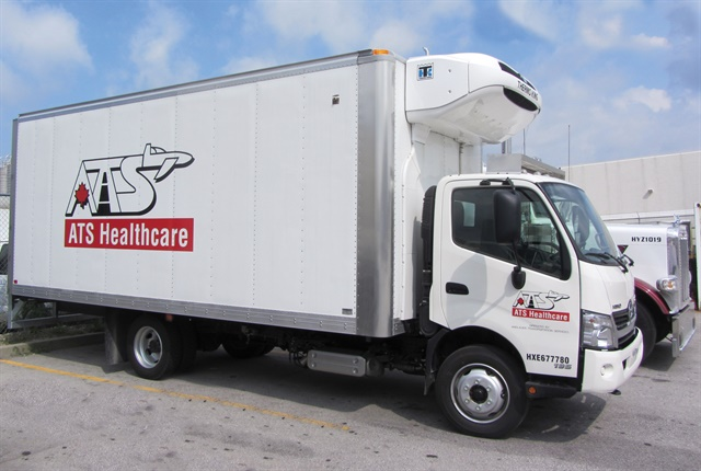 For Toronto-based ATS Healthcare, safety training begins just after initial driver onboarding, starting with a three-week program of classroom sessions and runs in the field with a trainer. Photo: ATS Healthcare