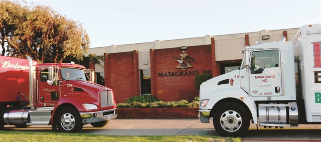 Matagrano Inc.'s customized Kenworth trucks can better maneuver through the streets of San Francisco to deliver beverages.