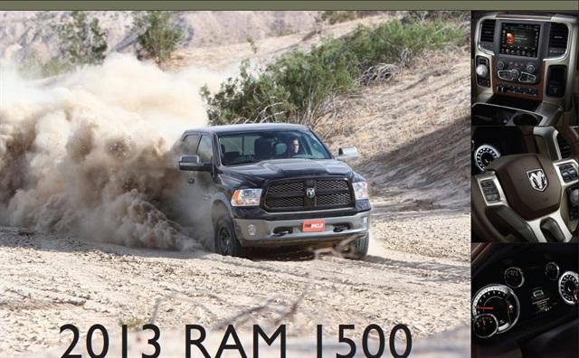 The 2013-MY Ram 1500.