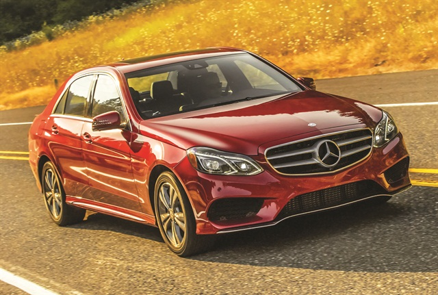 The 2014 Mercedes-Benz E250 produces 195 horsepower and 369 lbs.-ft. of torque and an estimated EPA rating of 28/45 mpg city/highway. Photo credit: MBUSA.