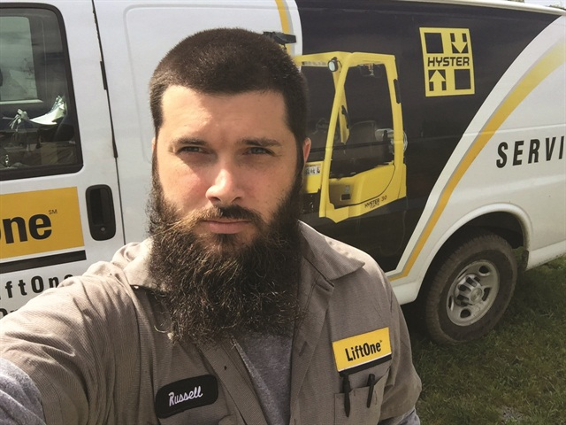 Forklift field service technician Russell Mullis went through a lengthy trial-and-error process to organize his van and then documented the results in a YouTube video.