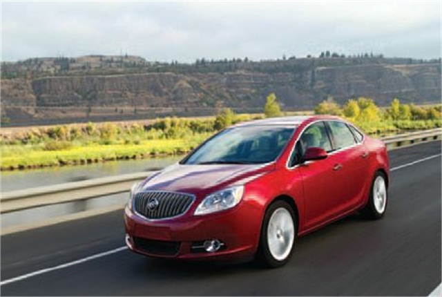 The 2013 Buick Verano took the trophy in the Mid-size Sedan category.