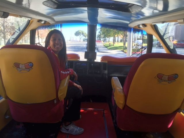 Jennifer Chow in the driver's seat.