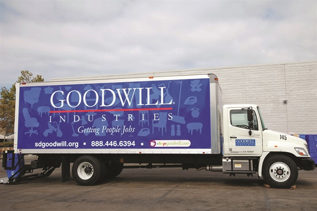 The leasing program used by Goodwill Industries of San Diego includes outsourced fleet management functions, including titling and registration, risk management, safety training, and compliance with DOT and state or federal regulations. Photo courtesy of Goodwill Industries of San Diego.