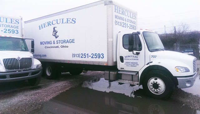 In addition to renting trucks from Enterprise Commercial Trucks, Hercules Moving & Storage's fleet is made up of eight 24-foot straight trucks.