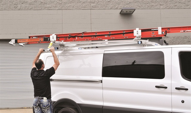 adrian steelu0027s loadsrite dropdown ladder rack for the lowroof ford transit cargo