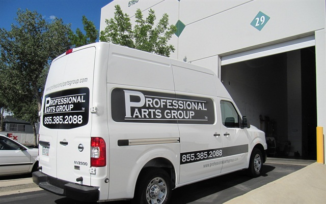 Professional Parts Group has a fleet made up of only Nissan cargo vans, including the NV2500.