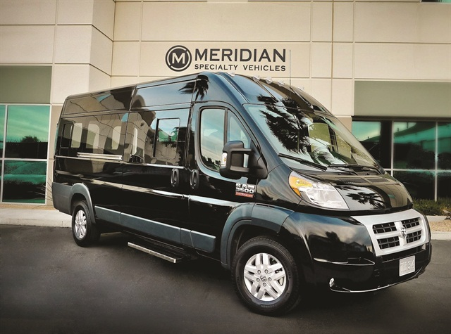 Meridian Specialty Vehicles' RAM ProMaster passenger van will be available to the public later this year.