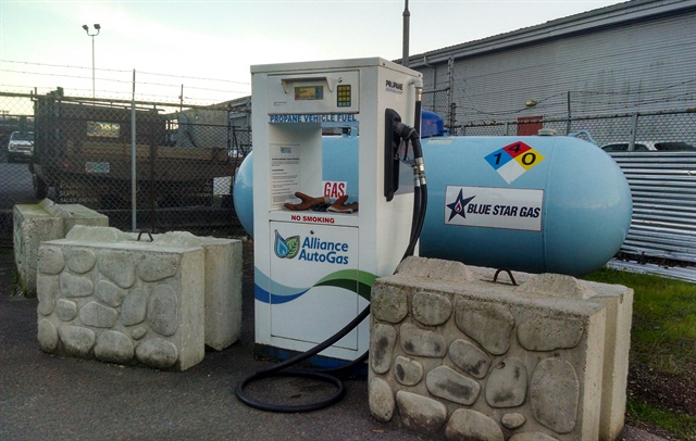 Installed on-site, WVT has a propane tank and a refueling station located at its Salem location.