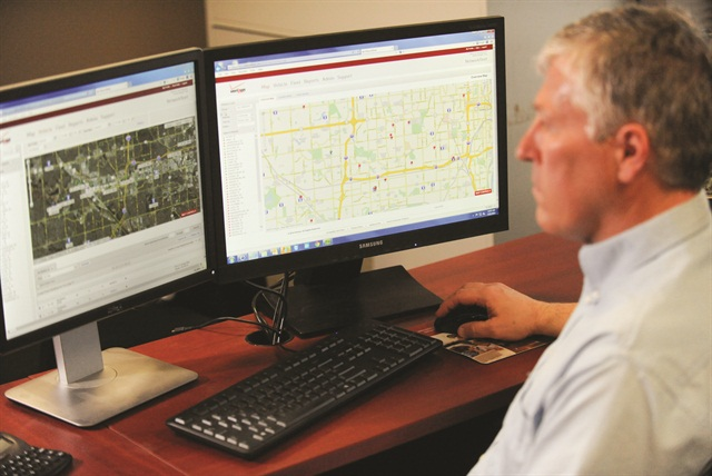 Gary McCollum of ServiceOne used his company's system to recover a stolen van in less than 25 minutes.