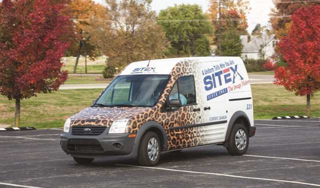 "This Ford Transit Connect is part of Sitex Corp.'s full-service lease program, which includes full maintenance and a fuel program. ""Our costs are in line, predictable, and we have a newer and better managed fleet than in the past,"" says Wes Sights, president and CEO. Photo courtesy of Sitex Corp."