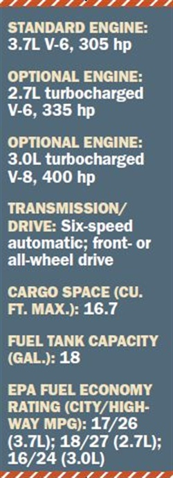 Specs for 2017 Lincoln Continental
