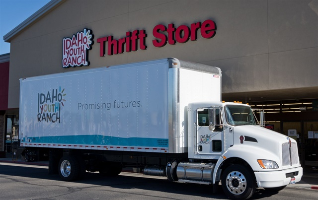One of Idaho Youth Ranch's Kenworth T270 trucks. The trucks make deliveries to each of the company's thrift stores across the state of Idaho.