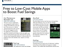 Toolbox - Free to Low-Cost Mobile Apps to Boost Fuel Savings