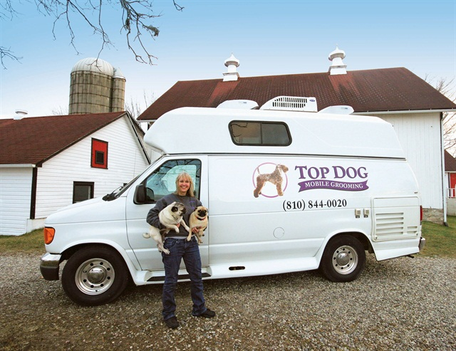 Maureen Hill Uses A Customized F 350 Van To Operate Her Mobile Grooming Business
