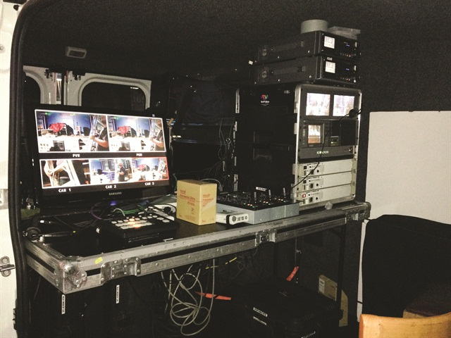 Rick Ghersi of TVS Communication Solutions upfit the company's two ProMaster vans to take advantage of the trend of shooting videos on location.