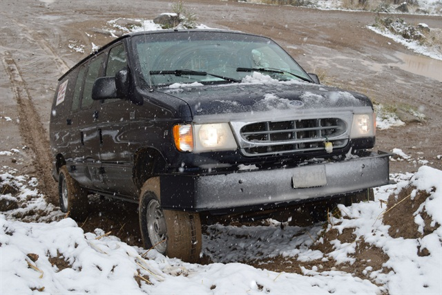 Winton's upgraded work truck includes a four-wheel drive conversion to reach clients in mountainous terrain and inclement weather.