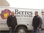 <p>From left to right, Peter Berres, owner of Berres Brothers Coffee Roasters, and Josh Budworth from Charter Fuels.</p>