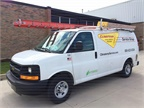 <p><em>Climatemp Service Group has converted four of its Chevrolet Express service vans to the XL3 Hybrid Electric Drive System. Photo courtesy of Climatemp.</em></p>