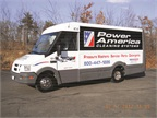 <p>Photos courtesy of Power Washer Sales.<br />This fleet modified Reach vans with a winch to aid loading, as well as e-track in the box to secure the equipment, and a file cabinet for parts storage and desk space.</p>