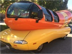 The Wienermobile is built on a GM chassis. Photo by Amy