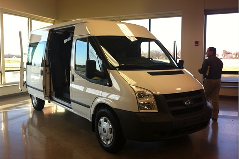 The Ford Transit van, seen here in its present global incarnation, is being re-engineered for the North American commercial market in anticipation of its launch in 2013.