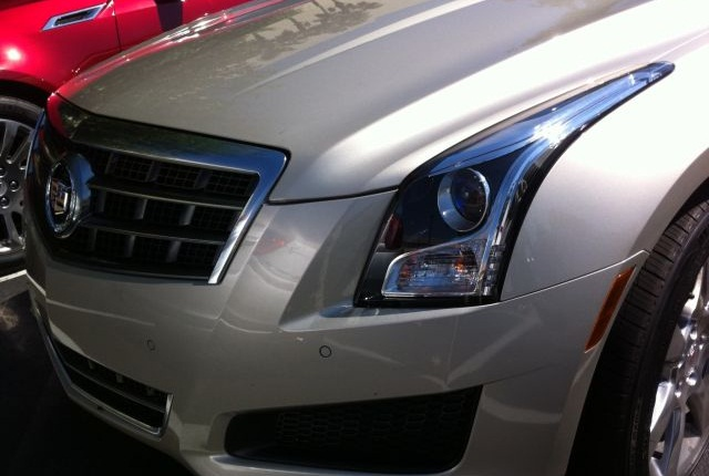 The unmistakable headlight treatment of the 2013 Cadillac ATS.