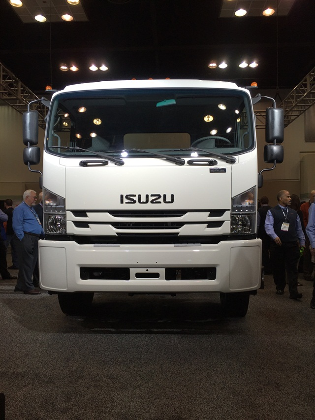 The all-new Class 6 Isuzu FTR is powered by a 4-cylinder diesel powerplant. Isuzu says the FTR meets the growing demand for urban delivery.