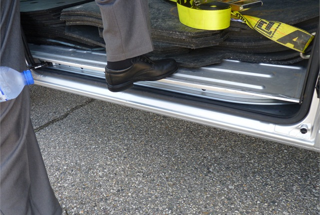The ProMaster's step-in height is a mere 21 inches.