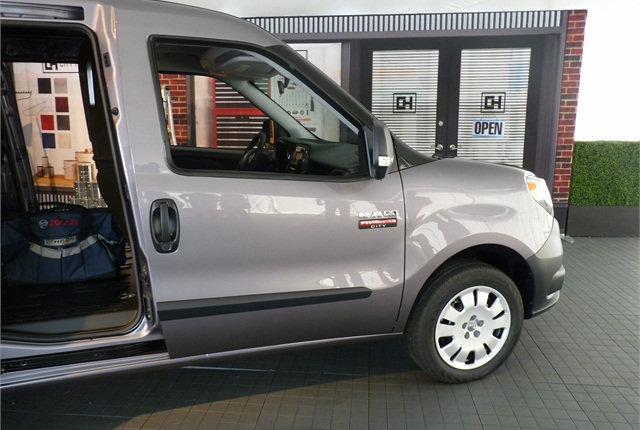 The ProMaster City has sliding doors on both sides.