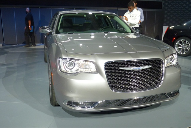 The 2015 Chrysler 300 features a 32% larger front grille with a floating wing badge. Expect this cue on more Chrysler models moving forward.