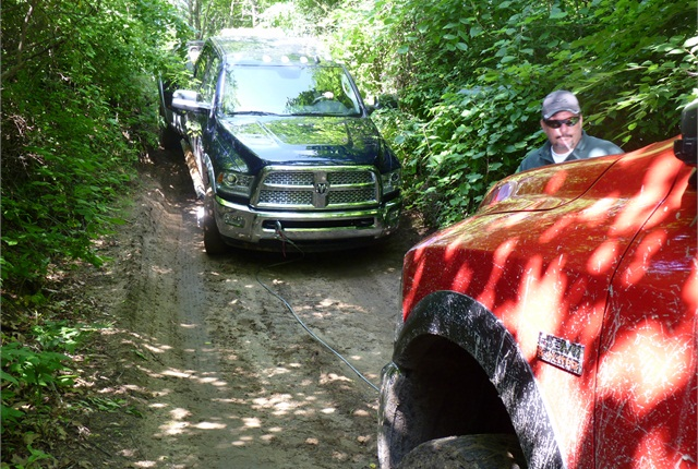 The Power Wagon yanked the 3500 to freedom without breaking a sweat.