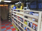 "<p>The shelves are built for maximum visibility and accessibility of tools and equipment. With a 3/4"" inch lip shelf, ""No matter what bump I go over I've never had a tool fall out,"" Paulk says.</p>"
