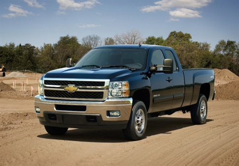 The 2013 Chevrolet Silverado HD bi-fuel pickup.