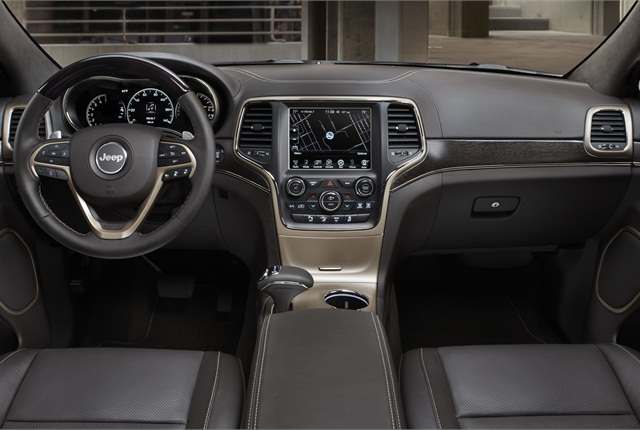 """Chrysler said it used interior accents to differentiate the trim levels. Pictured is the new """"Summit"""" trim grade. Photo courtesy of Chrysler Group."""