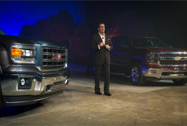 The automaker's President of GM North America Mark Reuss presented the new vehicles.