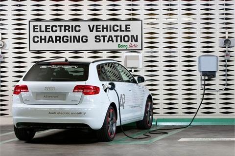 Audi announced its A3 e-tron pilot program in the U.S. on Feb. 27. (Photo: PRNewsFoto/Audi of America Inc.)