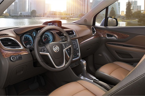 The Encore features a full-color, seven-inch LCD display for the IntelliLink voice-activated radio system.
