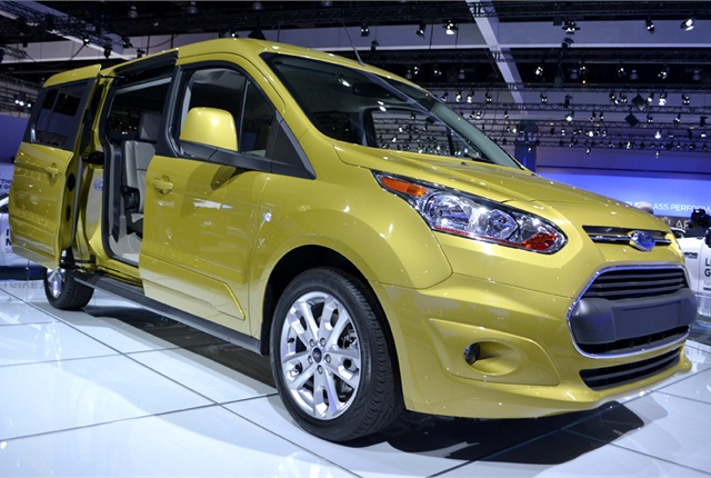 The long wheelbase Transit Connect Wagon on display at the 2012 LA Auto Show.Photo by Joanne Tucker