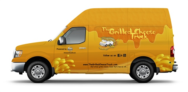 The Grilled Cheese Truck concept model of the Nissan NV commercial van.