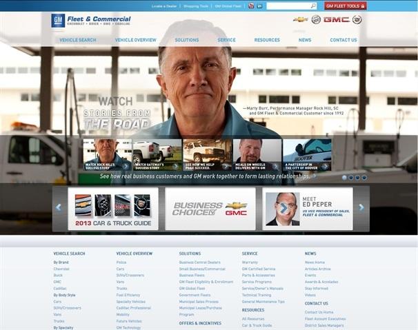 Screenshot of GMfleet.com