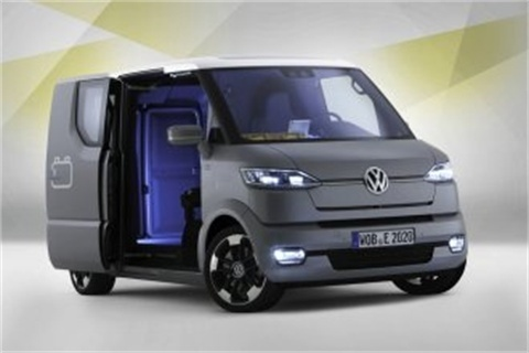 The all-electric Volkswagen eT! concept delivery van