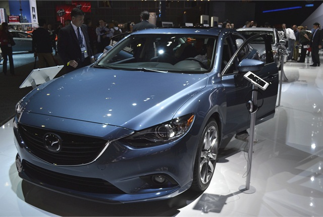 Photos by Greg BasichThe 2014-MY Mazda6 gasoline version will offer a 2.5L SKYACTIV engine that produces 184 hp and 185 lb. ft. of torque.