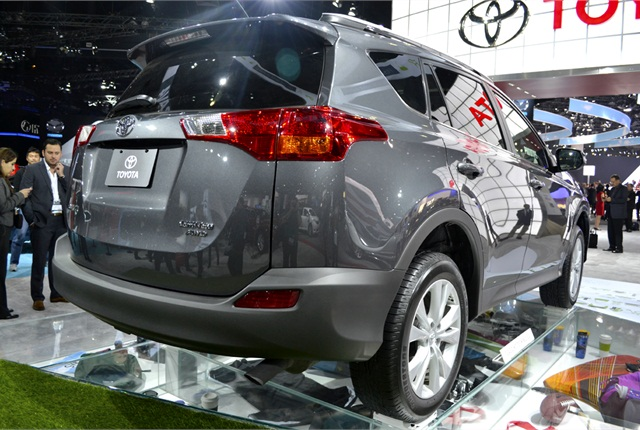 One major change for the 2013-MY RAV4 is the rear liftgate instead of the side-opening door on the previous model.