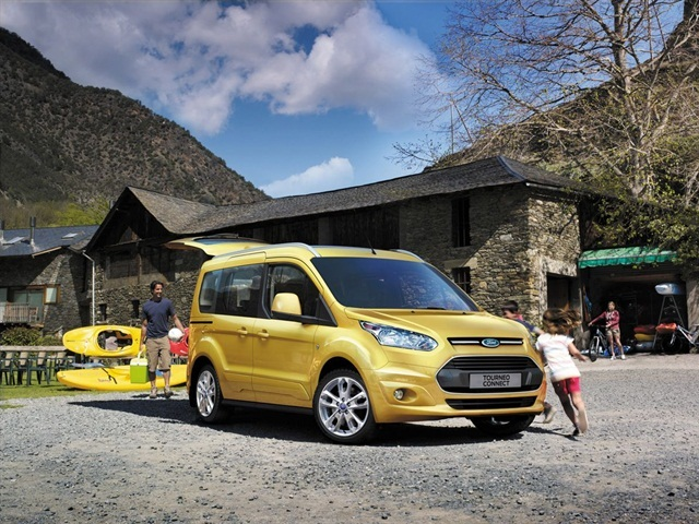 The European version of Ford's Transit Connect Wagon, called the Tourneo Connect. The Transit Connect Wagon will go on sale in North America in 2013.